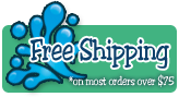 Free shipping on all swimsuits and equipment orders over $75